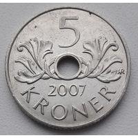 РАСПРОДАЖА_Норвегия 5 крон 2007 год_km#463_Много лотов в продаже