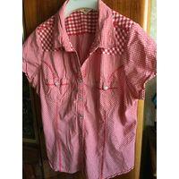 Блузка рубашка женская 50-52 Хлопок Германия 90-е гг на кнопочках
