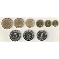 Таджикистан Набор 9 монет 2019