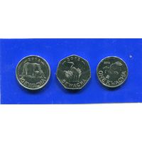 Малави 3 монеты ( 1+5+10 ) квача 2012 UNC