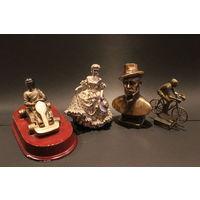 С  1 рубля!Четыре статуэтки из полимера одним лотом. Лот 20 / 24. Аукцион 5 дней!