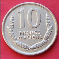 "Мали. 10 франков 1961 год  КМ#3  ""Лошадь"""