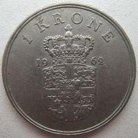 Дания 1 крона 1962 г. (g)