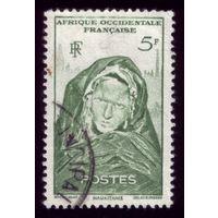 1 марка 1947 год Фр.Мавритания 47
