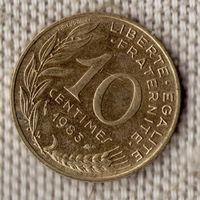 10 сантимов 1983 Франция KM# 929 алюминиевая бронза / Заводской Блеск