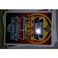 "Карточки ""Force Attax"" Звездные войны 68шт. (ЦЕНА за ВСЕ!)"