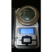 Пудреница .серебро 875 проб. диаметр 6.5см