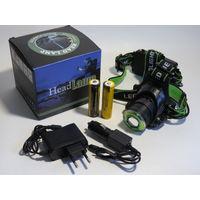 Налобный фонарь Огонь H-T560-T6 COB Zoom