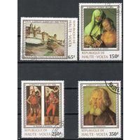 Живопись Верхняя Вольта 1978 год серия из 4 марок