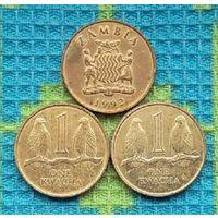 Замбия 1 нгве 1992 года. Герб Замбии.