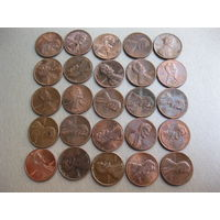 25 монет. США