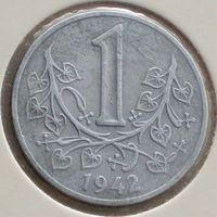 Богемия и Моравия (немецкий протекторат), 1 крона 1942 года, цинк, KM#4