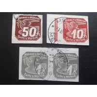 Рейх протекторат 1939 газетные марки