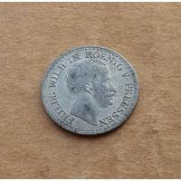 Пруссия, 1 грошен 1827 г., биллон, Фридрих Вильгельм III (1797-1840)