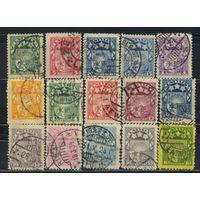 Латвия Респ 1921-32 Герб Стандарт #79,81,84-5,89-91,93-5,97,121-2,152,174