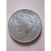 "1 доллар США 1923 год ""Peace""."