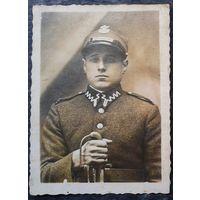 Фото польского жовнера до 1939 года. 5.5х7.5 см