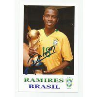 Ramires(Бразилия). Живой автограф на фотографии.