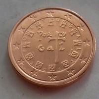 1 евроцент, Португалия 2012 г., UNC