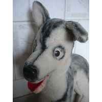 Мягкая игрушка винтаж Собака пес 60-70 гг