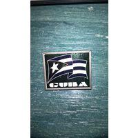 Значок. Флаг Кубы (Зеркальная вставка).