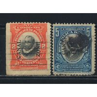США Зона Панамского канала 1909 Надп на марках Панамы Надп тип II #23-4