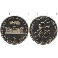 Болгария 2 лева 1987 гимнастика