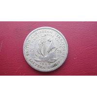Восточные Карибы 25 центов 1955 г.
