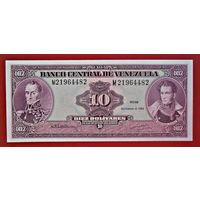 Венесуэла, 10 боливаров,1992 года , UNC