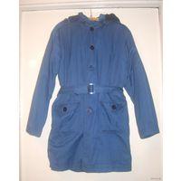 Детская куртка унисекс с утеплителем из кроличьей шкуры, р.36