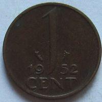 Нидерланды, 1 цент 1952 г