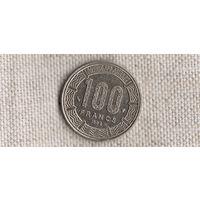 Центральная Африка 100 франков 1998 РЕДКАЯ/фауна/(Va)