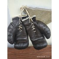 Перчатки для бокса СССР, кожа, цена за 1 пару.