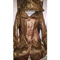 Модная куртка бронзового цвета