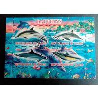 Чад 2013 Фауна Обитатели морей Рыбы Дельфины.