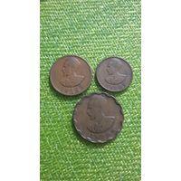 Эфиопия 5 10 25центов 1936г