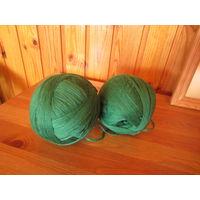 Пряжа зеленая 1 кг