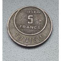 Тунис 5 франков, 1954 1-15-30