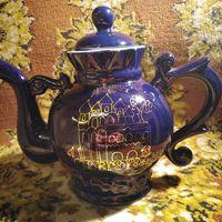 """Фарфоровый заварной чайник """"кобальт"""" 70е годы"""