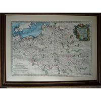 Карта Польши ВКЛ XVIII век