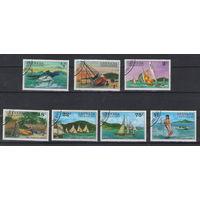 Гренада Гренадины Парусники отдых рыба 1976 год гашеная серия из 7-ми марок