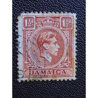 Английская Ямайка 1938 г. король Георг VI.