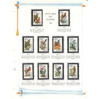США Птицы штаты флора 1982 год чистая полная серия из 50-ти марок в клеммташах и специальных листах с описанием