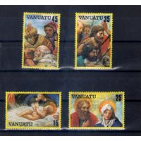 Рождество  год на марках острова Вануату