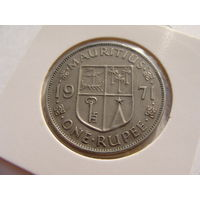 """Маврикий. """"Британская колония"""" 1 рупия 1971 год КМ#35"""
