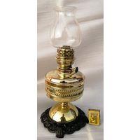 """Керосиновая лампа """"Парижъ""""  со стеклом. Начало прошлого века."""