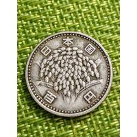 ЯПОНИЯ 100 ЙЕН 1963 г ( серебро )
