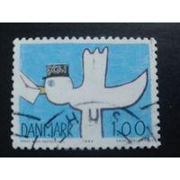 Дания 1984 птица с письмом
