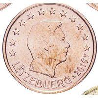 1 евроцент 2016 Люксембург UNC из ролла