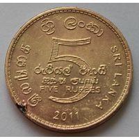 Шри-Ланка 5 рупий, 2011 г.